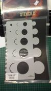 Stencil/Template/Shape Guide  'CIRCLES interior/exterior'  A4 size   was £12 NOW £6.00 inc postage